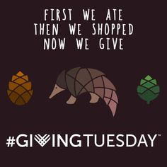 You sign the pledge, @eschocolate and Rainforest Trust donate an acre of habitat for Pangolins (the world's most trafficked mammal).  Happy #GivingTuesday!