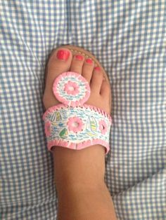 Lilly Pulitzer Sandals by LifeLoveLilly on Etsy, $39.99