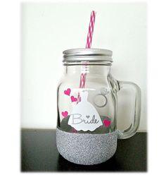 Mason jars personalizados para despedida de soltera, bridal shower y matrimonios solo en Fleira