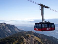 Jackson Hole Aerial Tram. Would DH actually do this with me? He's terrified of heights