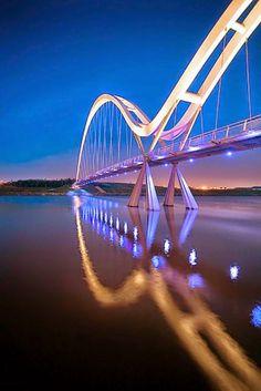 Infinity Bridge, Stockton-on-Tees, North East England