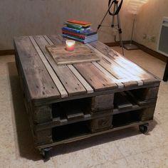 Table basse en palettes, simple et efficace.