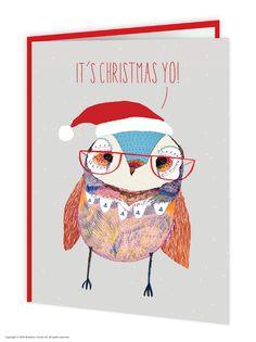 brainboxcandy.com - Owl Christmas Yo Christmas Card, £2.50 (http://www.brainboxcandy.com/owl-christmas-yo-christmas-card/)