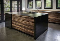 Red Gum, Richlite and hot rolled steel were used to adapt this kitchen to a home design by the architect Julia Morgan. Kitchen Island Bar, Shop Cabinets, Beautiful Architecture, Natural Wood, Countertops, New Homes, House Design, Kitchens, Furniture