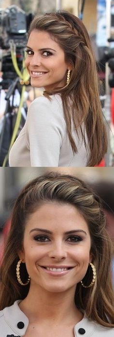 Do It Yourself - Maria Menounos' Face-Framing French Braid #hair