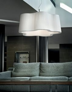 The Lavana Suspended Fabric Ceiling Light from Italy