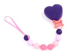 Sweet Valentine's gift idea for babies: Pacifier clip by Chewbeads