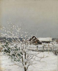 Winter Landscape, Ivan Endogurov. Russian (1861 - 1898)