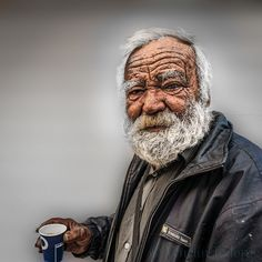 Man with coffee by Venelin Todorov