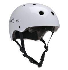 Pro-Tec Classic Skateboard Skate Helmet - Gloss White - SMALL
