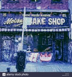Download this stock image: Moishe's Bake Shop.  2003 Polaroid sx70 scan. Famous Jewish Kosher Deli and Bakeries. - hw297m from Alamy's library of millions of high resolution stock photos, illustrations and vectors.