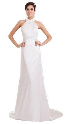 herafa p32886-26 Evening Dress Elegant Style Halter Sleeveless Open Back Zip Delicate Beading Long Chapel A-line White herafa,http://www.amazon.com/dp/B00J69UDR6/ref=cm_sw_r_pi_dp_KA0rtb0A5WP8TPBB