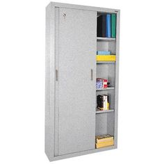 Sandusky Sliding 2 Door Storage Cabinet Color: Multi Granite