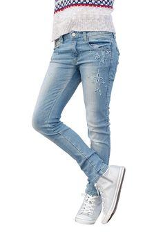Produkttyp , Jeans, |Qualitätshinweise , Hautfreundlich Schadstoffgeprüft, |Materialzusammensetzung , Obermaterial: 98% Baumwolle, 2% Elasthan, |Material , Jeans, |Farbe , light blue, |Passform , schmale Form, |Beinform , schmal, |Beinlänge , lang, |Leibhöhe , normal, |Bund + Verschluss , Druckknopf bis Gr. 134, verstellbarer Innen-Gummizug, |Taschenanzahl , 5, |Vorder- und Seitentaschen , Eing...