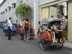 Becak @ Kampoeng Batik Laweyan Solo