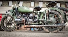 old VW engined Dnepr motorcycle