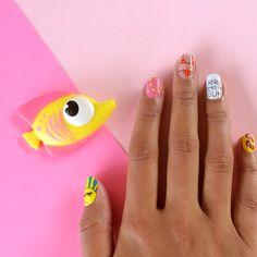 Little Darling Beach Bum nail wraps by Lynette Cenee.