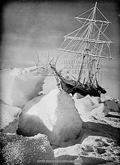 """ We're HUGE fans of Frank Hurley!"" This astonishing image depicting the ship Endurance was taken by the legendary photographer Frank Hurley in Antarctica, ANMM Collection Hurley, Captain Scott, Maritime Museum, Explorer, Long Winter, Tall Ships, The Villain, Vintage Photographs, Vintage Photos"