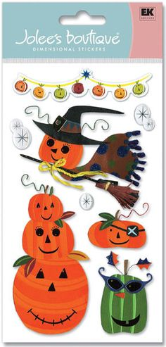 Jolee's Boutique Le Grande Dimensional Halloween Sticker - Pumpkins $4.39