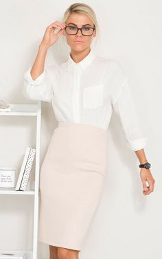 Pocket Detail, High Waisted Skirt, Long Sleeve, Skirts, Fabric, Model, How To Wear, Outfits, Classic