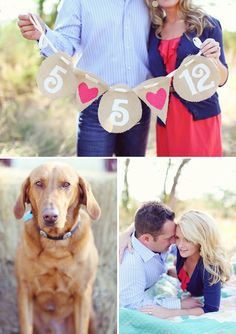 another cute engagement photo... dog <3