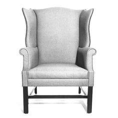 BRIGHT CHAIR KENT 699 WING CHAIR W: 29   D: 31   H: 42.5 Arm Height: 24.5 Seat Height: 17.5 Yardage 5.75 Yds. COM 114 Sq. ft. COL. - Find this and many other chair options for your design project at Ernest Gaspard & Associates | Atlanta, GA