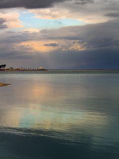 Dead Sea after rainstorm