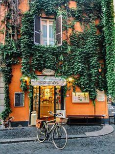 """wanderlusteurope: """" Pretty street in Rome """""""