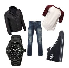 """""""o"""" by eminblazevic on Polyvore featuring Wilsons Leather, adidas, Neff, men's fashion and menswear"""