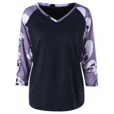 GET $50 NOW | Join Dresslily: Get YOUR $50 NOW!https://m.dresslily.com/skull-raglan-sleeve-v-neck-t-shirt-product2190242.html?seid=Kl0dO7d6bSEGj0I4K4h9vGpOE8