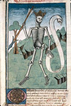 discardingimages:  gorgeous smileArs bene moriendi, France 1470-1480. Marseille, Bibliothèque municipale, ms. 89, fol. 63r