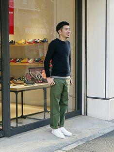 PATRICK LABO KOBE   MOTOI_MATSUHIROさんのスニーカー「PATRICK QUEBEC(ケベック) / WHT」を使ったコーディネート Japan Fashion, Mens Fashion, Japan Outfit, Tokyo Street Style, Winter Outfits Men, Japanese Street Fashion, Lifestyle Clothing, Streetwear Fashion, Cool Outfits