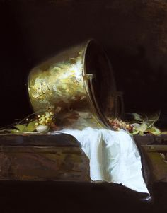 Sherrie McGraw  - The Brass Bowl (Homage to Emil Carlsen) - 20x16