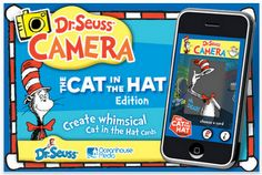 Cute, cute, cute...Dr. Seuss Camera app to create whimsical cat in the hat pictures