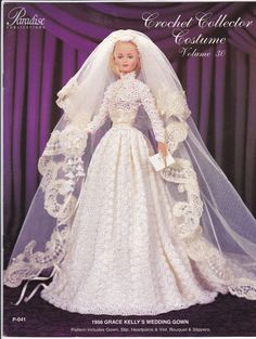 Crochet your own 1956 Grace Kelly Wedding Gown. This is the project for you @Brooke Powers!