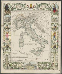 1841 Map of Italy / by Karl Voger