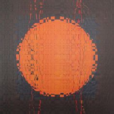 """Lois Martin takes you on a virtual tour of a recent show of mixed media work by SDA Members.  Larry Schulte """"Orange Orb"""" 2012 54"""" x 54"""" Woven painted paper. Photo by the artist."""
