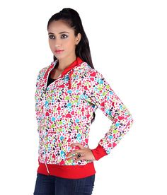 Belly Bottom Multi Color Poly Cotton Hooded Sweatshirt