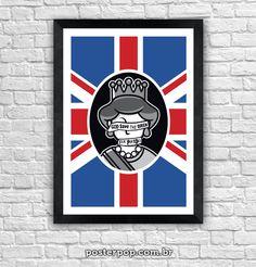 Poster Minimalista God Save The Queen - Sex Pistols
