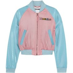 Moschino+ My Little Pony Appliquéd Lurex Bomber Jacket ($1,295) ❤ liked on Polyvore featuring outerwear and jackets