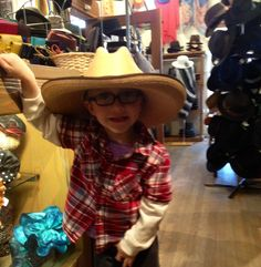 He's a hat lover even at such a young age!