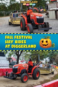 Our Fall Festival is officially underway! We have hayrides, carnival games, bonfires and more. The best part is it's all included with weekend admission. Get your family out of the house and come experience over 40+ rides and attractions at the only construction theme & water park in the US. Carnival Rides, Construction Theme, Bonfires, Family Outing, Pumpkin Decorating, Special Events, Outdoor Power Equipment, Fall Decor, Monster Trucks
