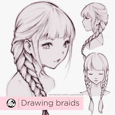 Here is a beautiful braids drawing tutorial by the amazing @ladowska for you guys! It's really nicely done and super pretty  Wish you…