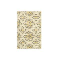 Shaw Living Global Tiles Area Rug - Gray/Yellow ($20) ❤ liked on Polyvore