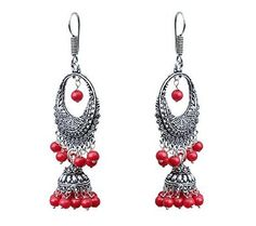 Waama Jewels red pearl Dangle and Drops Earring For Women Daily Wear EarringEarring gifts for her