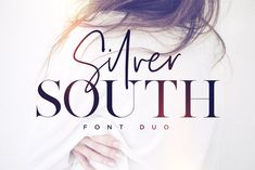 Silver South Font Duo by Sam Parrett on Duo, a classy, contemporary pair of script and serif fonts. With a stylish didot-style serif font and a free-flowing, expressive script companion, Silver South offers beautiful typographic harmony fo Font Design, Web Design, Design Typography, Typography Fonts, Graphic Design, Design Blogs, Design Files, Creative Design, Hand Lettering