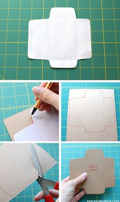 Diy: free printable mini envelope template - make and add a voucher ...