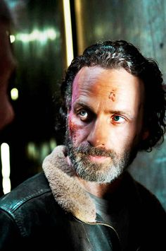 Rick Grimes looking a little tired and scruffy....