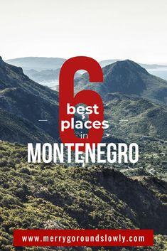 6 Best places in Montenegro: A list of best places to visit in Montenegro, including Kotor, Budva, Ulcinj Velika Plaza Beach, Lake Skadar, Durmitor and the Black Lake. #montenegro #balkans #budva #kotor #durmitor #europe #travel #inspiration #crnagora #ulcinj