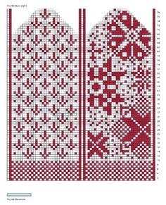 "Вязание. Варежки с жаккардом - ""Зимняя радуга"" | VK Knitting Charts, Loom Knitting, Knitting Stitches, Knitting Socks, Knitting Patterns, Crochet Mittens Free Pattern, Knit Mittens, Knitted Gloves, Norwegian Knitting"